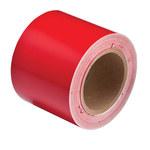Brady B-946 Red Pipe Banding Tape - 4 in Width - 30 yd Length - 36288