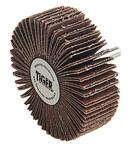 Weiler Tiger Coated Aluminum Oxide Flap Wheel - 1 in Face Width - 3 in Diameter - 52027