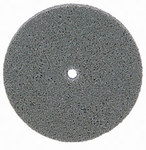 Weiler Unitized Aluminum Oxide Medium Deburring Wheel - Fine Grade - Arbor Attachment - 3 in Diameter - 1/4 in Center Hole - 1/4 in Thickness - 54492