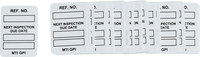 Brady Microtag White Vinyl Micro Tag Insert - 1 1/4 in Width - 1 7/8 in Height - Printed Text = NEXT INSPECTION DUE DATE - MIC-MTIGPI W