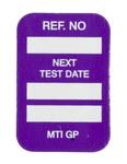 Brady Microtag Purple Vinyl Micro Tag Insert - 1 1/4 in Width - 1 7/8 in Height - Printed Text = NEXT TEST DATE - MIC-MTIGP P