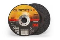 3M Cubitron II Type-Q Ceramic Aluminum Oxide Depressed Center Grinding Wheel - 5 in Dia 7/8 in Center Hole - Thickness 1/4 in - 12,250 Max RPM - 78467