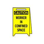Brady Plastic Rectangle Yellow Floor Stand Sign - 12 in Width x 20 in Height - 52394