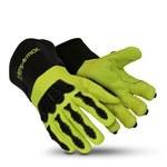 HexArmor Chrome Series Black/Lime 10 Welding & Heat-Resistant Gloves - 4084-XL (10)
