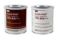 3M Scotch-Weld 1751 Gray Two-Part Epoxy Adhesive - Base & Accelerator (B/A) - 1 gal Kit - 20105