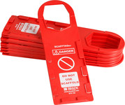 Brady Scafftag SCAF-STH146 White on Red Rectangle Plastic Scaffold Tag Holder - 3 1/2 in Width - 11 3/4 in Height - 14258