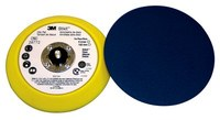 3M Stikit 28772 Medium Yellow Disc Pad - 6 in Diameter - 3/4 in Thick - 5/16-24 External Thread Attachment