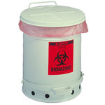 Justrite Soundgard Silver Steel 10 gal Safety Can - 18 1/4 in Height - 13 15/16 in Overall Diameter - 697841-12721