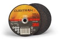 3M Cubitron II Type-Q Ceramic Aluminum Oxide Depressed Center Grinding Wheel - 4 in Dia 3/8 in Center Hole - Thickness 1/4 in - 15,300 Max RPM - 78469