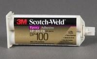 3M Scotch-Weld DP100FR Cream Two-Part Epoxy Adhesive - Base & Accelerator (B/A) - 200 ml Cartridge - 56744