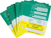 Brady Scafftag Green Vinyl Scaffold Tag Insert - 7 5/8 in Width - 5 3/4 in Height - SCAF-STSI751