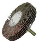 Weiler Coated Aluminum Oxide Flap Wheel - 1/2 in Face Width - 3 in Diameter - 52024