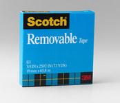 3M Scotch 811 Office Tape - 3/4 in Width x 2592 in Length - 19246