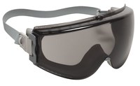 Uvex Stealth Polycarbonate Standard Safety Goggle Gray Lens - Gray Frame - Indirect Vent - 603390-035890