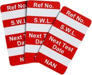 Brady Nanotag Red Nano Tag Insert - Printed Text = SAFE LOAD - NAN-NAN RED