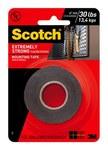 3M Scotch 414DC Black Foam Mounting Tape - 1 in Width x 60 in Length - 91976