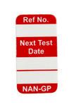 Brady Nanotag Red Vinyl Nano Tag Insert - 5/8 in Width - 1 1/4 in Height - NAN-GP R