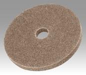 3M Scotch-Brite XL-UW Unitized Aluminum Oxide Medium Deburring Wheel - Coarse Grade - Arbor Attachment - 8 in Diameter - 1 1/4 in Center Hole - Thickness 1 in - 17889