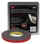 3M 06382 Black Attachment Automotive Tape - 1/2 in Width x 20 yd Length - 45 mil Thick