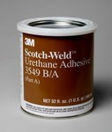 3M Scotch-Weld 3549 Two-Part Base & Accelerator (B/A) Off-White Urethane Adhesive - Paste 1 qt Kit - 20902