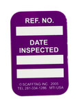 Brady Microtag Purple Vinyl Micro Tag Insert - 1 1/4 in Width - 1 7/8 in Height - Printed Text = DATE INSPECTED - MIC-MTIUSA P