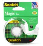3M Scotch 122 Magic Clear Office Tape - 3/4 in Width x 650 in Length - 01113