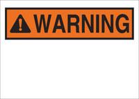 Brady B-555 Aluminum Orange Preprinted Header - 10 in Width x 7 in Height - 42254