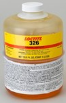Loctite 326 Amber One-Part Methacrylate Adhesive - 1 L Bottle - 32685