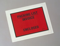 3M F1 Clear Polyethylene Label Protective Envelope - 4 1/2 in Width - 5 1/2 in Height - 73711