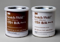 3M Scotch-Weld 1751 Gray Two-Part Epoxy Adhesive - Base & Accelerator (B/A) - 1 pt Kit - 20101