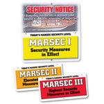 Brady Aluminum Square White MARSEC Security Sign - 24 in Width x 24 in Height - 132449