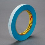 3M 9990N Blue Splicing & Core Starting Tape - 37.5 mm Width x 33 m Length - 5.5 mil Thick - Repulpable Paper Liner - 08066