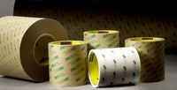 3M 966 Clear Transfer Tape - 4 1/2 in Width x 60 yd Length - 2 mil Thick - Densified Kraft Paper Liner - 58406