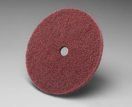 3M Scotch-Brite CF-DC Aluminum Oxide Deburring Disc - Medium Grade - Arbor Attachment - 8 in Diameter - 1/2 in Center Hole - 09036