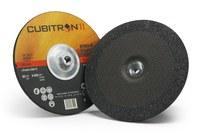 3M Cubitron II Type-Q Ceramic Aluminum Oxide Quick Change Depressed Center Wheel - 9 in Dia - Thickness 1/4 in - 6,650 Max RPM - 87153