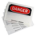 Brady Black / Red on Clear Polyester Laminator Pouch - 8 in Width - 11 in Height - Printed Text = DANGER - 23361