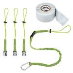 Ergodyne Squids 3181 Lime Green Woven Elastic Tool Tethering Kit - 720476-19651