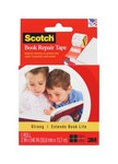 3M Scotch 845-R Clear Book Repair Tape - 2 in Width x 540 in Length - 97176
