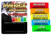 Brady Steel Rectangle White Homeland Security Sign - 24 in Width x 30 in Height - 103644