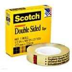 3M Scotch 665 Office Tape - 1/2 in Width x 900 in Length - 96898