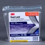 3M Dual Lock TB4575 Black Hook & Loop Tape - Mushroom Hook with 400 stems/in Stem Count - 1 in Width x 10 ft Length - 97636