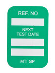 Brady Microtag Green Vinyl Micro Tag Insert - 1 1/4 in Width - 1 7/8 in Height - Printed Text = NEXT TEST DATE - MIC-MTIGP G