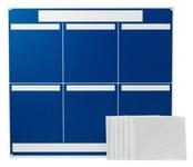 Brady Polystyrene Foam Core Rectangle Blue Communication Boards - 37 1/4 in Width x 34 1/4 in Height - Self-Adhesive - 114613