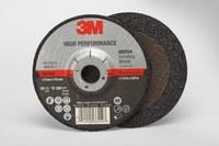 3M Standard (Type 27) Ceramic Depressed-Center Wheel - 36 Grit - Very Coarse Grade - 4 in Diameter - 5/8 in Center Hole - 1/4 in Thick - 66554