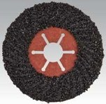 Dynabrade Coated Silicon Carbide Fiber Disc - Very Coarse Grade - 16 Grit - 4 1/2 in Diameter - 7/8 in Center Hole - 77779