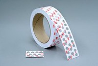 3M B2500 White Splicing & Core Starting Tape - 1.03 in Width x 36 yd Length - 3.2 mil Thick - Repulpable Paper Liner - 97750