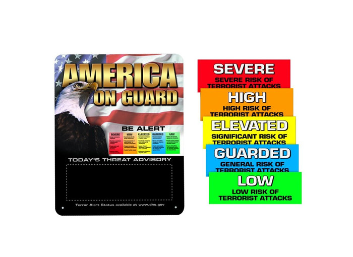 Homeland Security Alert Signs
