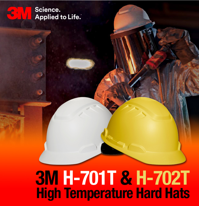 3M H701T and H702T High Temperature Hard Hats