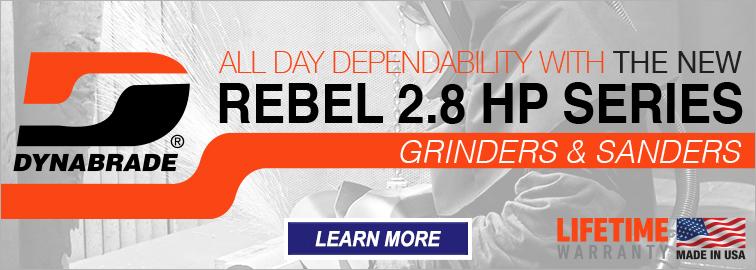 Dynabrade Rebel 2.8-HP Series Grinders and Sanders