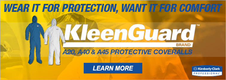 Kleenguard A20, A40, and A45 Coveralls
